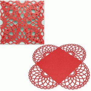 Silhouette Design Store - View Design #43759: 4 side card wrap doily design samantha walker
