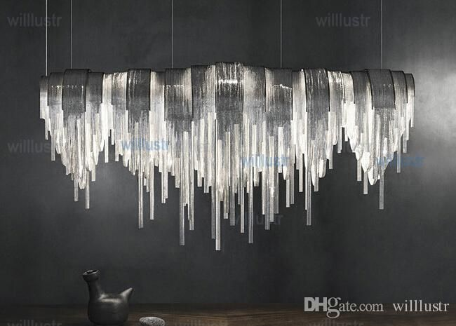 Terzani Volver Suspension Light Aluminum Chain Chandeliers Modern Novelty Lighting Fixture Aluminum Pendant Lamp Sitting Room Office Cafe Glass Pendant Pendant Lamps From Willlustr, $1527.64| Dhgate.Com