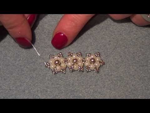TheHeartBeading: Small Floral Bracelet Tutorial (no sound) - YouTube