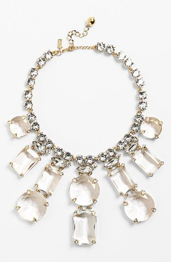 kate spade new york 'opening night' crystal statement necklace | Nordstrom
