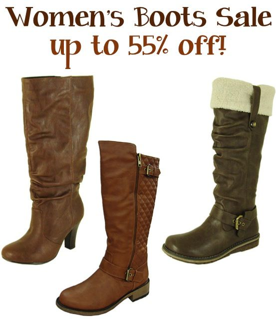 Women's Boots Sale ~ up to 55% off!! #boots