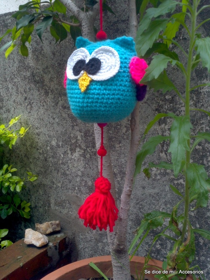 Buho Decorativo Tejido En Crochet