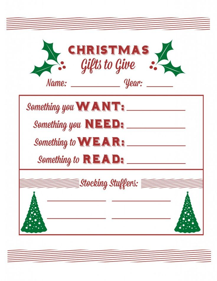 25 best ideas about Christmas list printable – Printable Christmas List Template