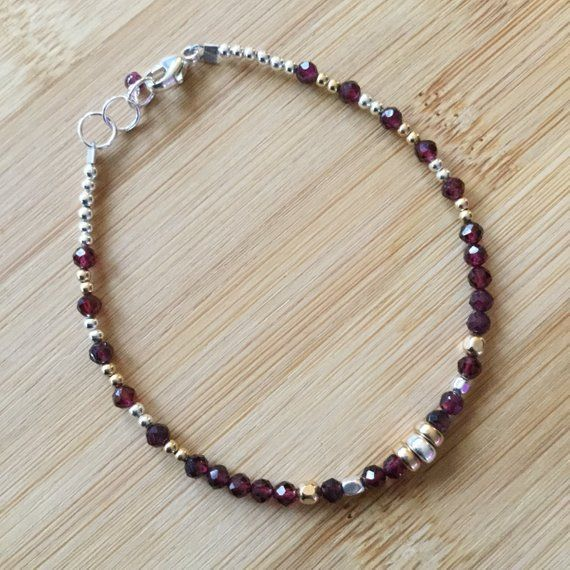 Sterling Silver and Gold Fill Pink Tourmaline Mixed Metal Necklace with Herkimer Diamonds