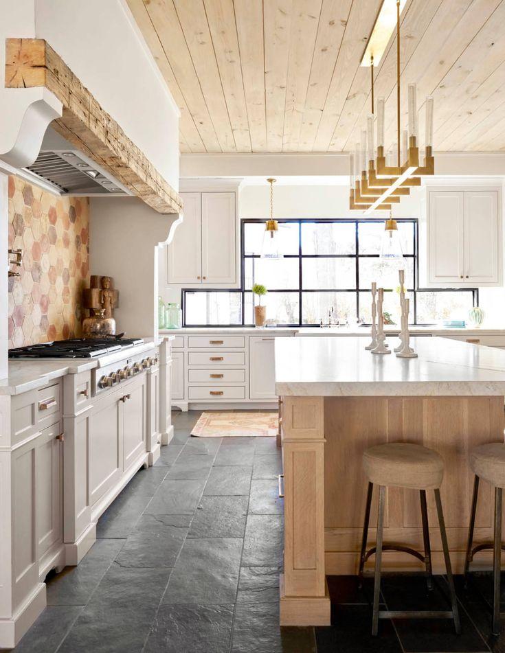 Slate Floor Kitchen Pictures & Ideas ... in 2020   Kitchen ...