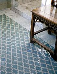 Love This Ceramic Tile Vibe Ashbury Mosaic From Walker Zanger Was Looking For Something The Kitchen But Blue A Powder Room Floor