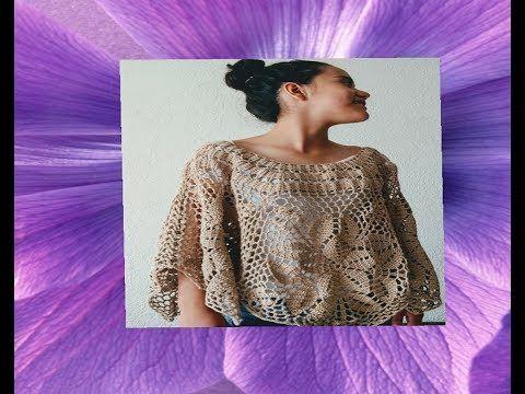 (1) Blusa tejida a crochet todas las tallas - tutorial paso a paso - facil y rapido #1 - YouTube