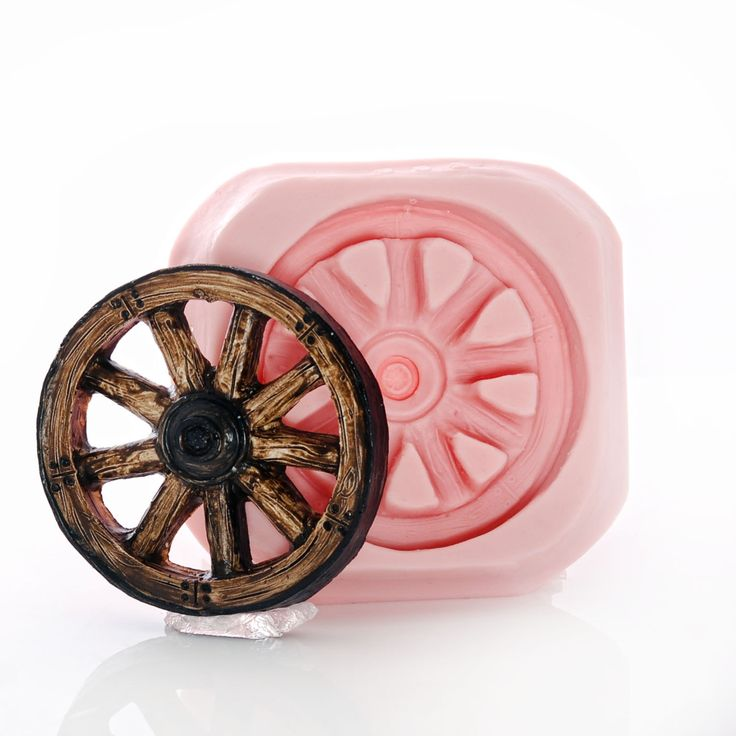Silicone Wagon Wheel Mold Flexible Food Safe Western Wagon Wheel Mould - Fondant, Candy, Craft, Resin, Polymer Clay Mold (962) by MoldMeShapeMe on Etsy