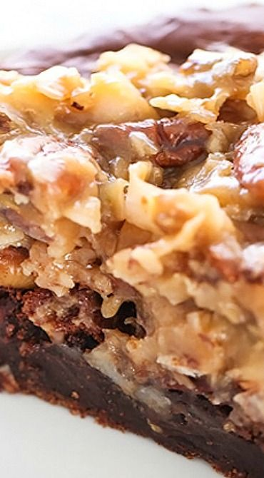 German Chocolate Brownie Pie