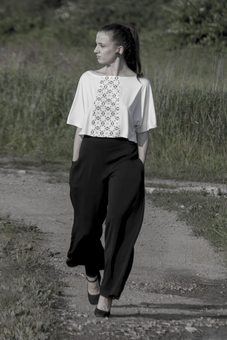 Trousers and top designed by Beata Janiga