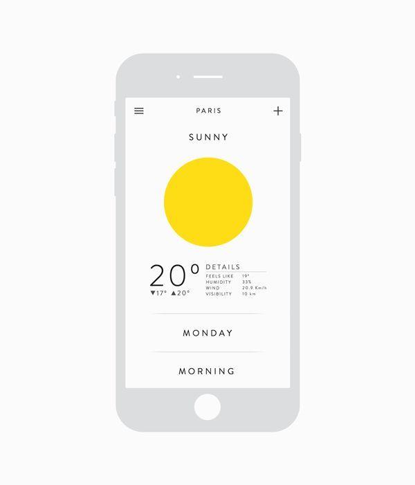 Weather app on App Design Served appdesignserved.co