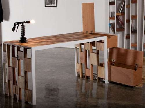 Tetris influenced table.
