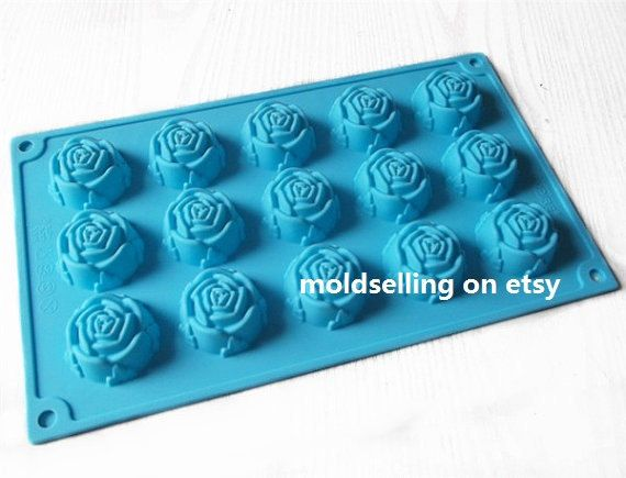 6-Big Flower soap mold Flexible Silicone Mold polymer clay mold Cake Mold Chocolate Mould Resin Mold Biscuit Mold mould fimo mold