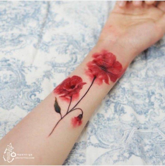 Нежнее нежного: «акварельные» татуировки от корейского мастера.   Colors.life