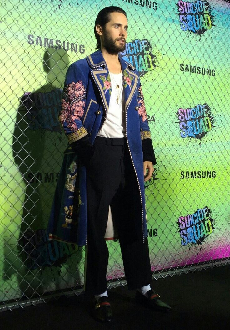 Jared Leto, stunning in Gucci at Suicide Squad premiere