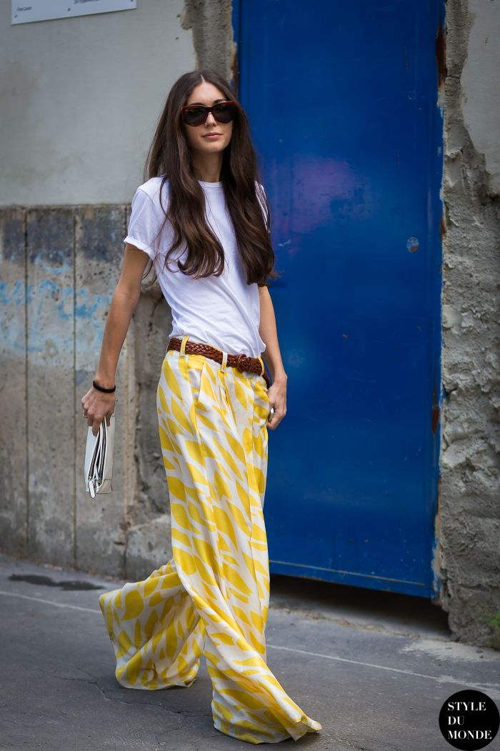 vintage pants with white tee