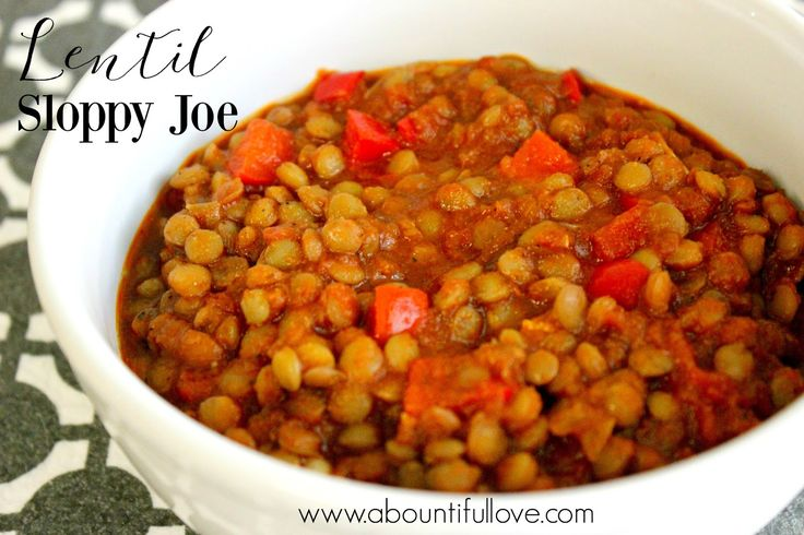 Amazingly delicious and tasty Lentil Sloppy Joes. The homemade sloppy joe mix is the best!
