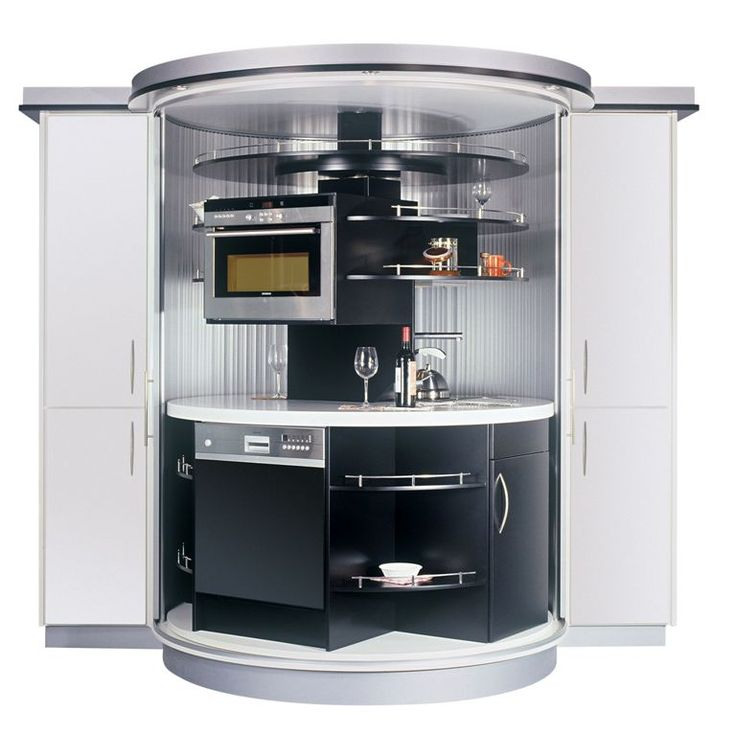 Kithen Mini: Complete Tiny Kitchen For Small Modern House Black And