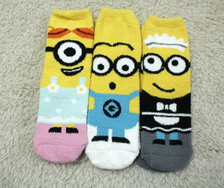 New unisex Disney Official Minions Discapable me Winter Warm Fluffy Fuzzy socks #Unbranded #Casual