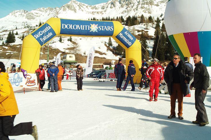 Ski race in the #Dolomites #dolomitistars
