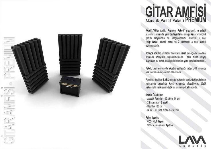 Gltar Amfisi Premium Akustik Panel Paketi www.muzikenstrumani.com #lavaakustik #lava #akustik #acoustic #acustic #panel #music