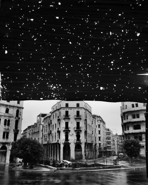 Place de l'Etoile, from the series Beirut City Centre, 1991.  Fouad El Khoury