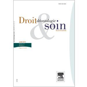 La revue Droit, déontologie et soin - 4 n°/an