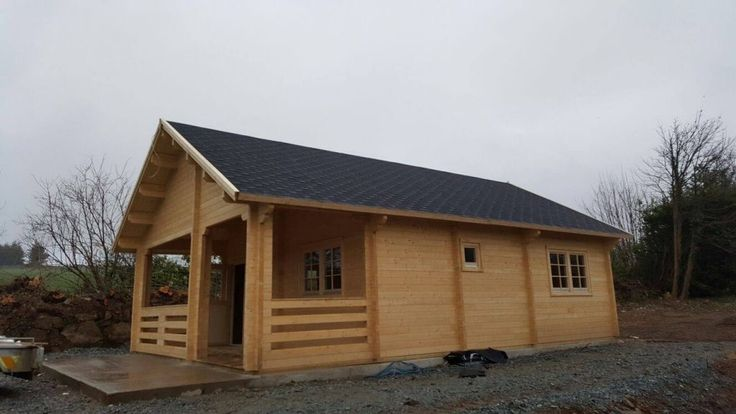 Beautiful Irish Scenery and A Nordic Spruce Premium Quality Log House In Ireland. #Logcabins4less