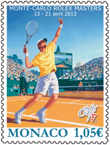 Monte-Carlo Rolex Masters 2013 stamp from Monaco    The post of Monaco is issuing a stamp to commemorate Monte-Carlo Rolex Masters 2013. The Monte-Carlo Masters (as of 2012 sponsored by Rolex) is an annual tennis tournament for male professional players held in Roquebrune-Cap-Martin, France, a commune that borders on Monaco.   http://www.stampnews.com/stamps/stamps_2013/stamp_1360756451_252659.html