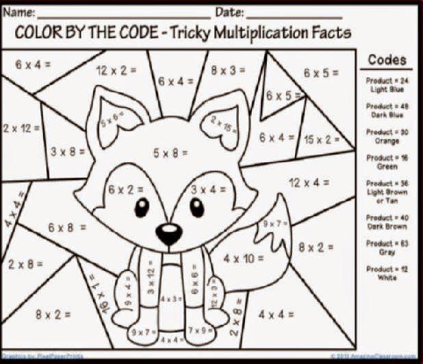 Halloween Coloring Pages Grade 3 Hojas De Trabajo De Multiplicacion Hojas De Trabajo De Matematicas Matematicas De Cuarto Curso