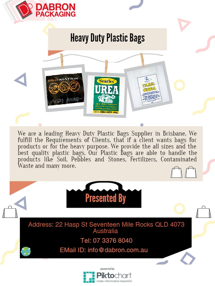 We are a well known Wholesale Heavy Duty Plastic Bags Supplier in Brisbane.
