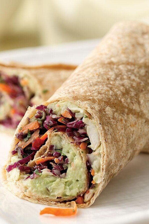 Creamy Avocado White Bean Wrap Recipe Cheap Healthy Lunch Wrap Recipes Food