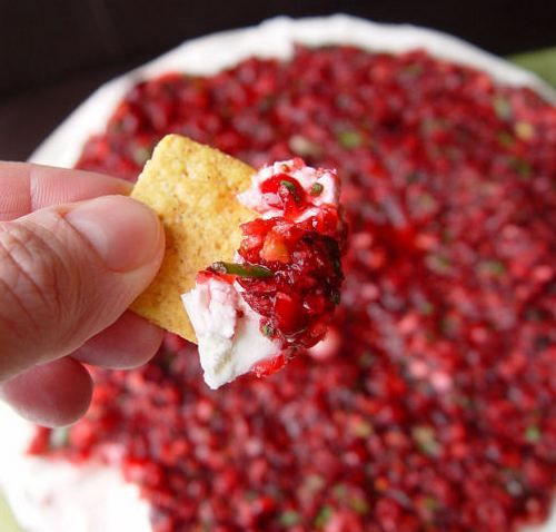 Cranberry Cream Cheese Dip - super fabulous!