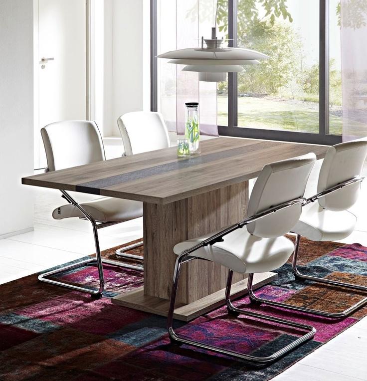 Esstisch DIEGO San Remo Eiche Schiefer Esszimmer Pinterest - runder küchentisch weiß