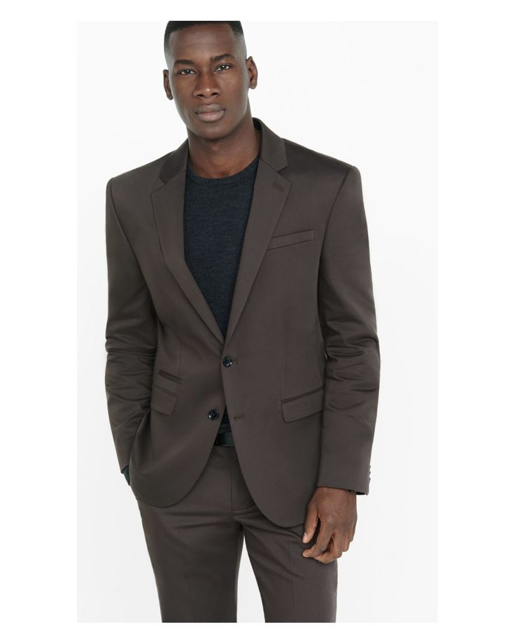 Express | Photographer Brown Cotton Sateen Suit Jacket for Men | Lyst