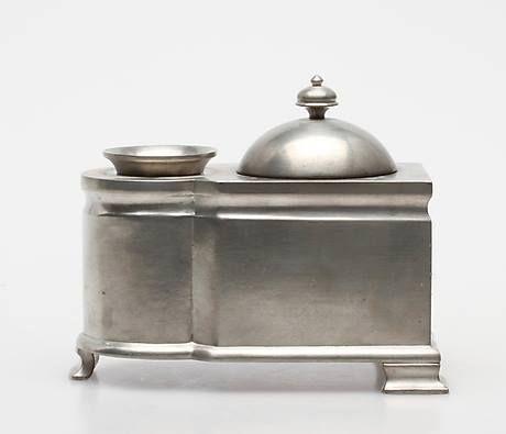 Inkstand made in pewter c. 1930 - masterpiece by danish designer Just Andersen.