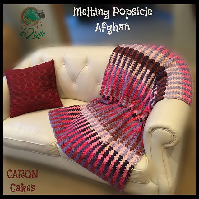Uses 4 Cakes of Yarn, can be done all in one colour, or 2 rolls each of colours of your choice