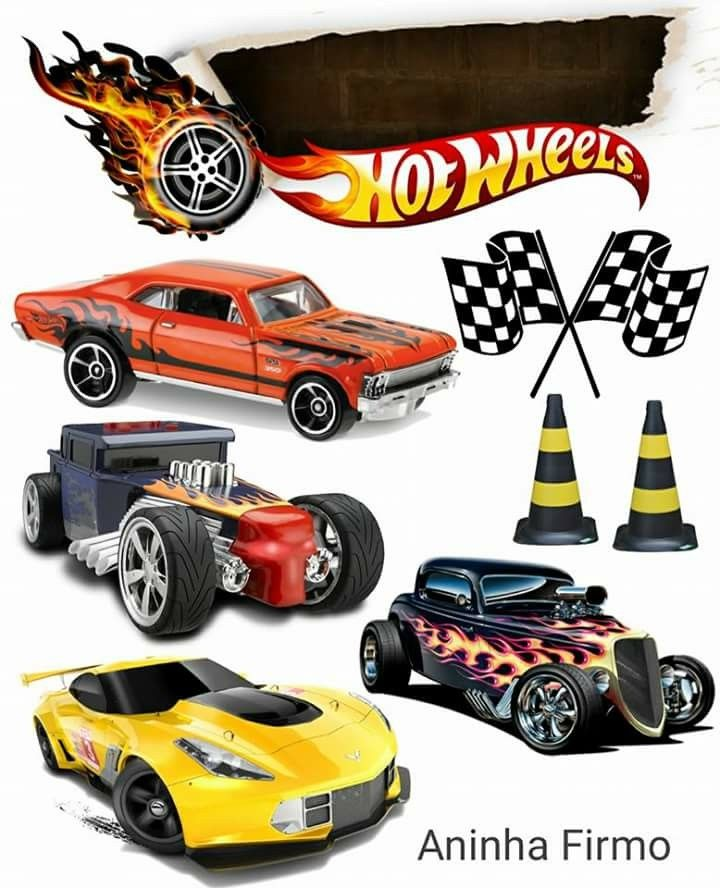 Topo De Bolo Hotwheels Hot Wheels Bolo Hot Wheels Festa Hot Wheels