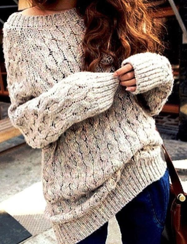 Chunky & Cozy Knit Sweater- never get these to look right on me but I love them!