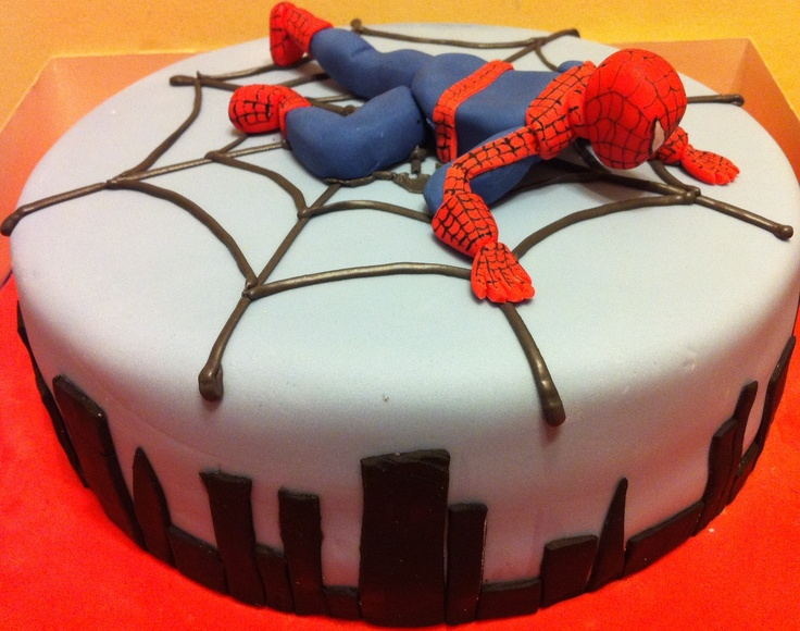 Pictures Spiderman Birthday Cakes