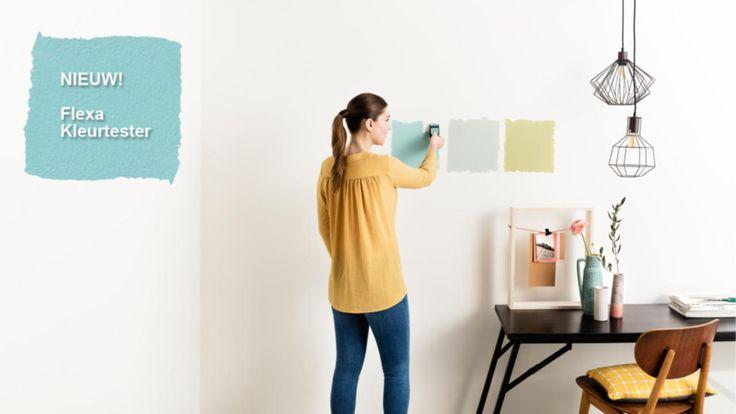 Vierkant achter je kleurkeuze met de Flexa kleurtester