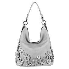 Photo of WOMEN'S Flowers HANDBAG HOBO BAG Shoulder Bag Shoulder Bag Patch Leather Opti …