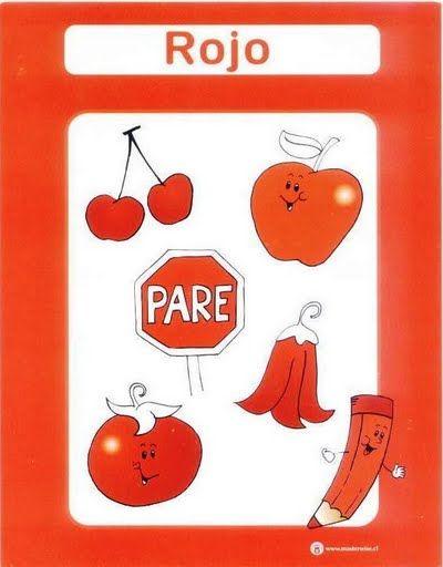 color rojo fichas infantiles para aprender los colores imprimir gratis para niños