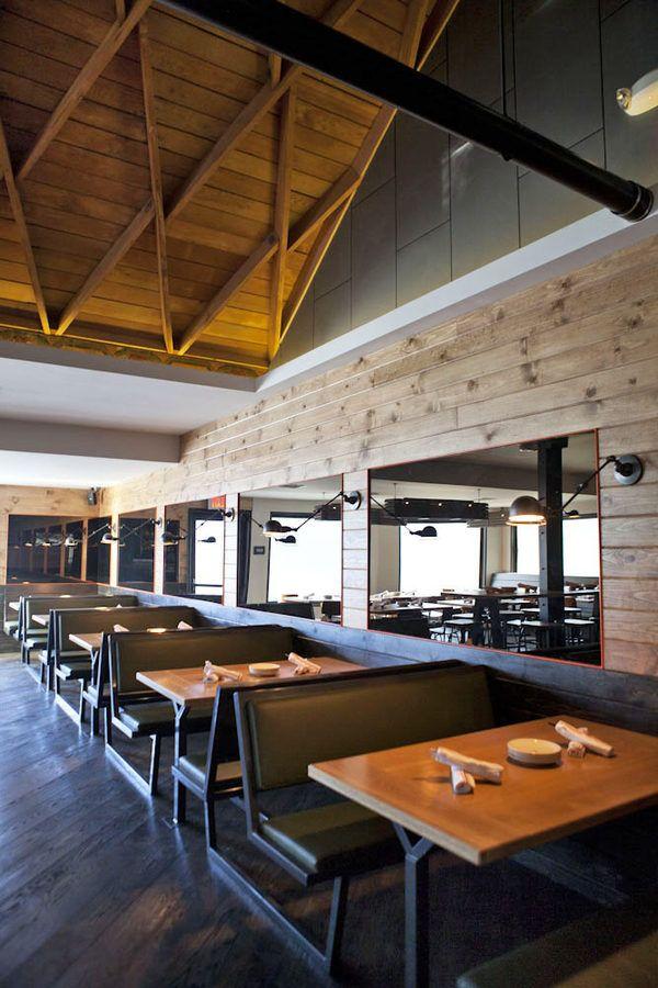 restaurant interior design - Light Hardwood Restaurant Decoration