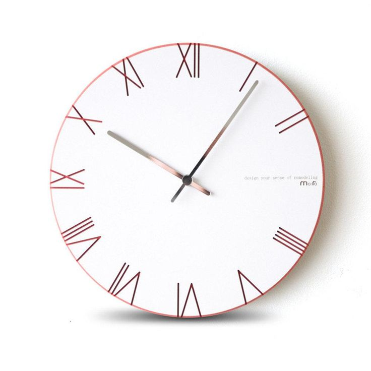 Pascoe Pink Minimal Clock - Pin for Inspo!