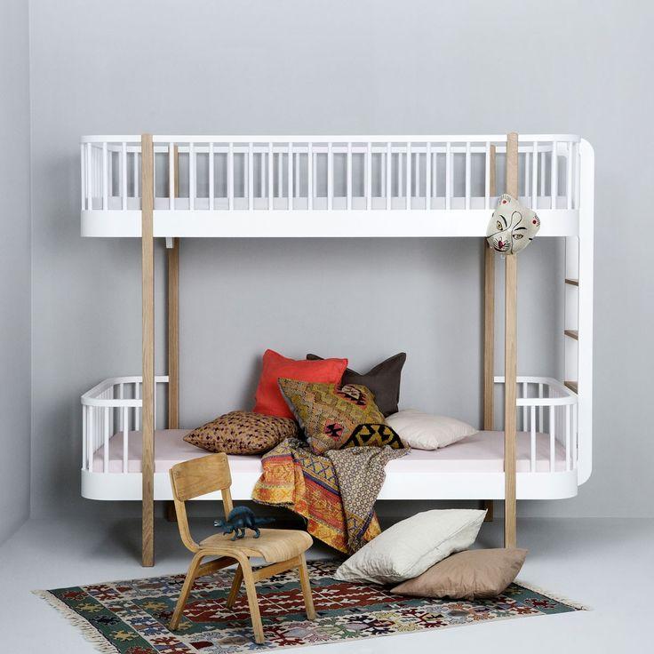 oliver furniture etagenbett aus der wood collection in eichewei leiter am kopfteil - Einfache Hausgemachte Etagenbetten