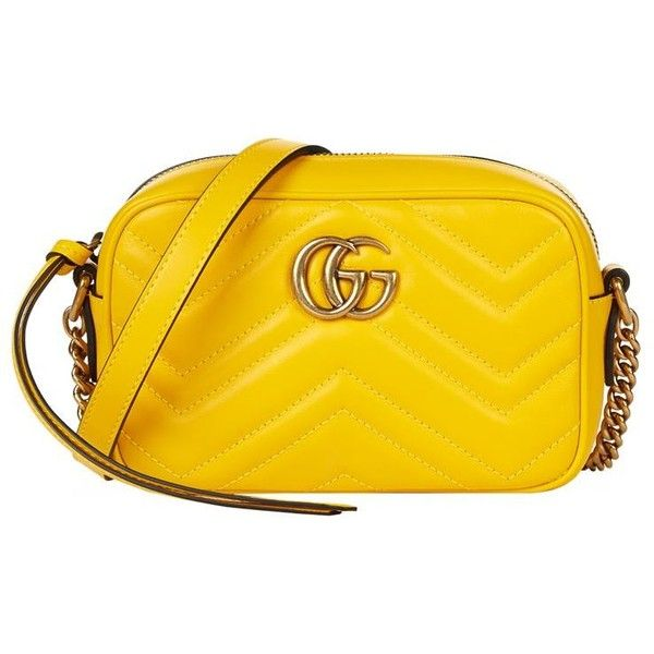 Gucci Mini Marmont Chevron Cross Body Bag ($780) ❤ liked on Polyvore featuring bags, handbags, shoulder bags, cross-body handbag, leather cross body purse, gucci crossbody, gucci handbags and mini crossbody