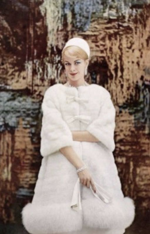 Christian Dior vintage dress and coat ensemble 1960