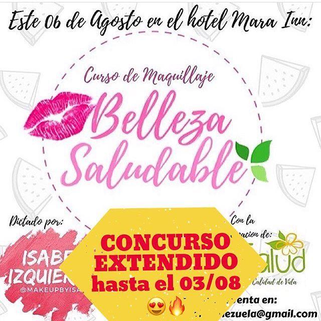 """🔥CONCURSO EXTENDIDO🔥  Debido a la alta participación y por todos los dms que hemos recibido, extendimos nuestro  concurso hasta este jueves 02 a las 12 pm! ❤🎉🔥PARA QUE TE GANES UNA ENTRADA🔥 . Para ganarte una entrada para nuestro súper curso de maquillaje debes:  1- Darle """"Me Gusta"""" a esta imagen  2- Seguirnos:  @Makeupbyisaa  @Yulisrondon @Saludycalidaddev  3- Etiquetar a dos amigas de #PuertoOrdaz en este post🎉 (No valen cuentas de famosos, tiendas ni cuentas falsas)  4- Puedes…"""
