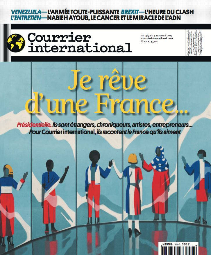 Le titre de une. Hebdo n° 1383 - Je rêve d'une France... | Courrier international